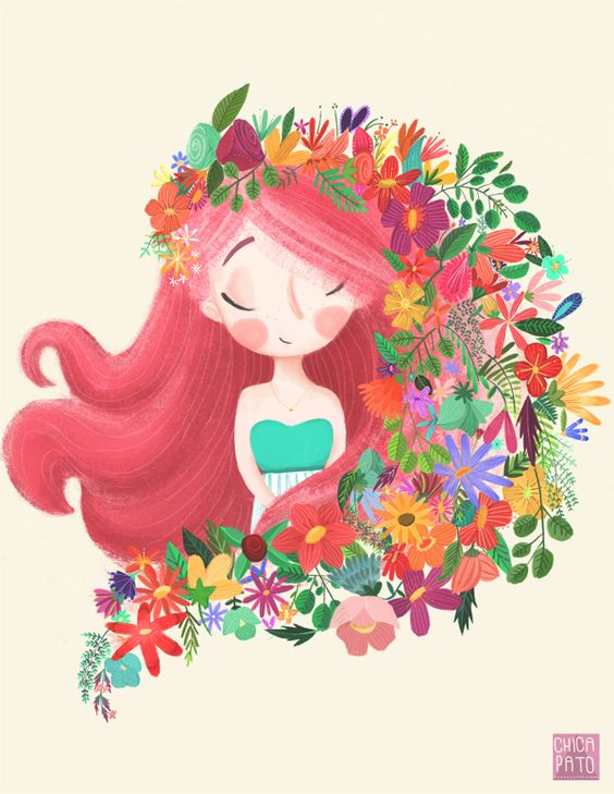 Ilustration · Flores y más flores · by Dany Álvarez M, via Behance: