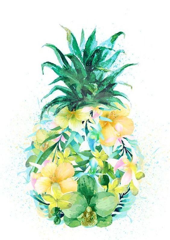 Pineapple Pop Art Wallpaper