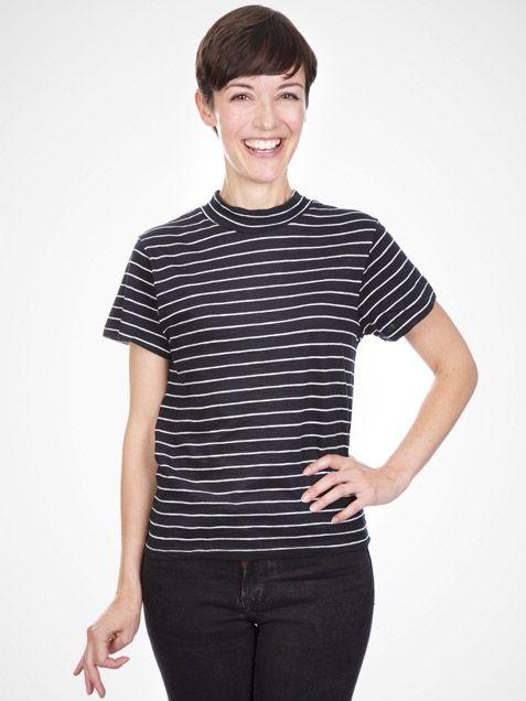 Kilda Tshirt in Black & White by Wemoto