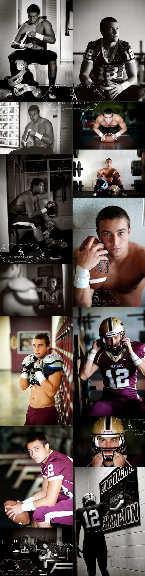 Football Player Senior Photography Session/Could be any sport. these are amazing compared to the standard smiling shots.