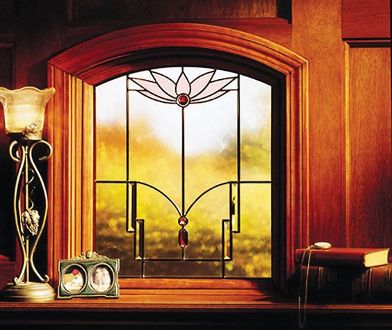 Lotus glasses and window on pinterest for Anderson art glass