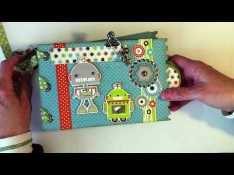 Robots Paper Bag Mini Album by my sisters scrapper !! love her !!