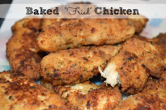 Baked Chicken Tenderloins that look and taste like they're fried! #SoFab
