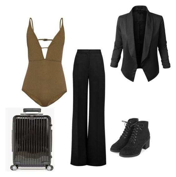 """Untitled #116"" by lignonolivia on Polyvore featuring Zimmermann, Roksanda, Topshop, LE3NO and Salsa"