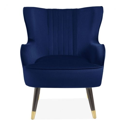 Incredible Cult Living Bronte Wingback Armchair Velvet Upholstered Gmtry Best Dining Table And Chair Ideas Images Gmtryco
