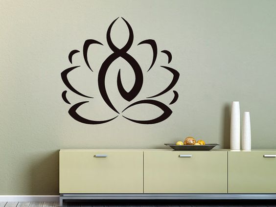 Wall Decals Yoga Lotus Indian Buddha Decal Vinyl Sticker Home Decor