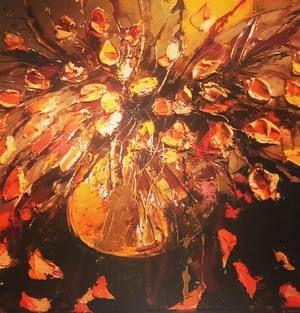 "Private ""Yellow"" original oil on canvas by Victoria Kovalenchikova"