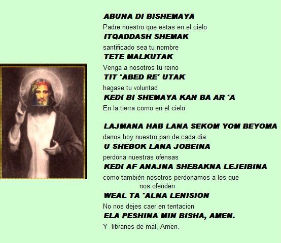 El Padrenuestro En Arameo Padrenuestro Oración Padre Nuestro Oracion Para Ayunar