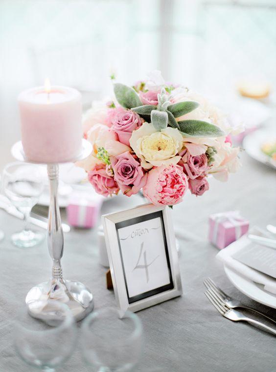 Номерок на стол. Свадьба в розовых тонах. Фотограф: Максим Колибердин