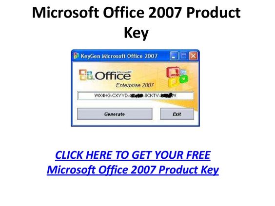 microsoft office 2007 poduct key