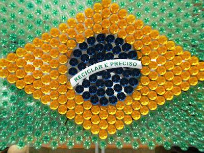Blog Ambiente de Luz: Semana da Pátria - Bandeira reciclada