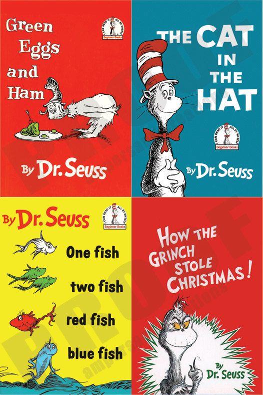 Dr Seuss Book Cover Printables : Dr seuss book cover set pinterest new
