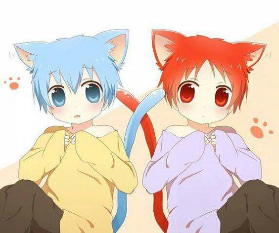 Kawaii chibi Akashi Seijuurou and Kuroko Tetsuya from Kuroko no Basuke anime