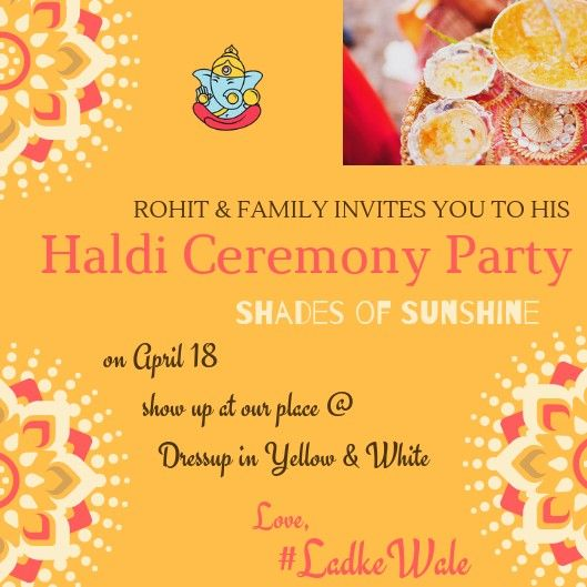 Haldi Invite Haldi Ceremony Digital Invitations Wedding Beautiful Wedding Invitations
