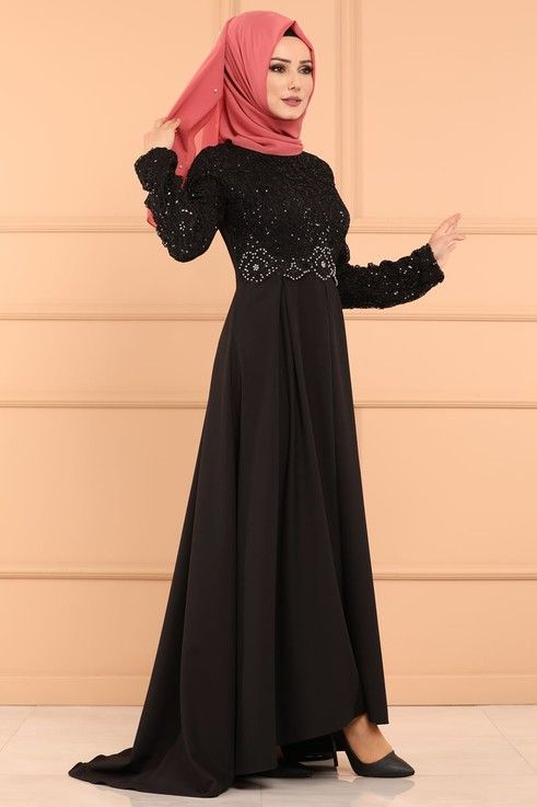 Modaselvim Abiye Pulpayet Peplum Abiye 4914ay342 Siyah Elbiseler Elbise Modelleri Elbise