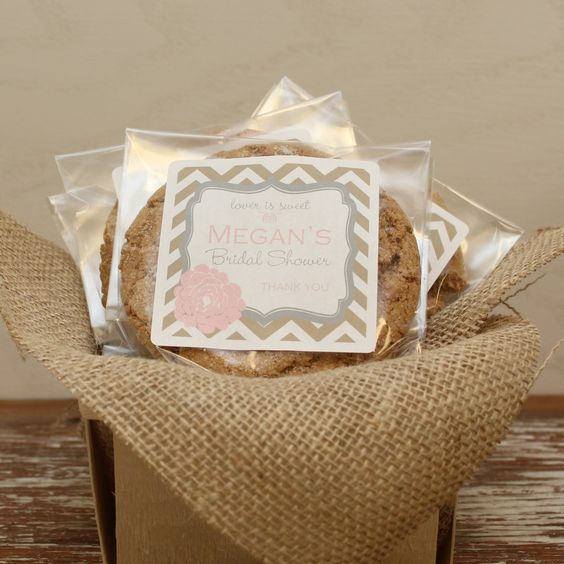24 Personalized Cellophane Cookie Bags, Candy Bags - Delilah Label - ANY COLOR - cookie buffet bags, bridal shower favor bags by thefavorbox on Etsy