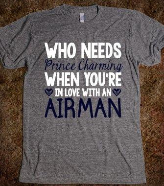 WHO NEEDS PRINCE CHARMING (AIRMAN) - CGA InStudio - Skreened T-shirts, Organic Shirts, Hoodies, Kids Tees, Baby One-Pieces and Tote Bags