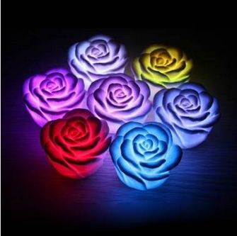 #Romantic Colorful Gradient #Rose Lantern #LED Night Light Candle Lamp FREE SHIPPING * 100% of buyers said this product arrived in the described condition