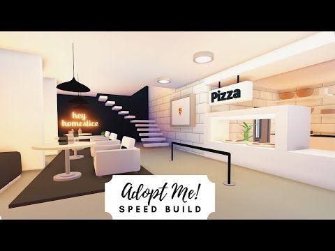 Modern Pizza Restaurant Speed Build Roblox Adopt Me Youtube Home Roblox My Home Design Coffee Shop Interior Design