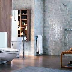 Mediterrane Badezimmer Bilder: Zellige Fliesen, Badezimmer