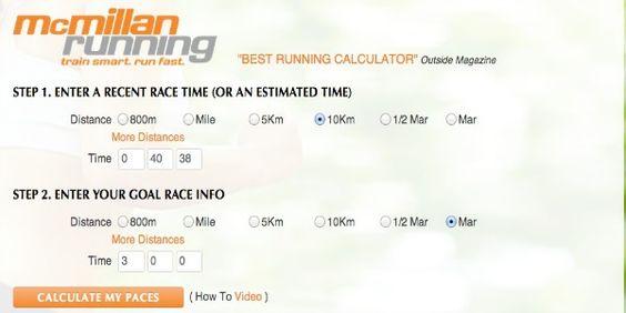 Calcula tu ritmo de entrenamiento y carrera con la calculadora  Mc Millan | Gadgets para Corredores
