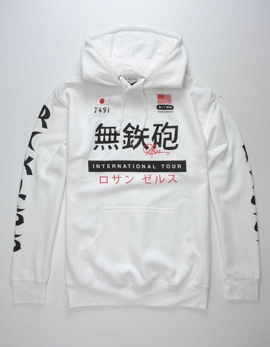 Young Reckless Shibuya Mens Hoodie White 329069150 Roupas Moda Moda Masculina