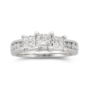 TruMiracle® 1 CT. T.W. Diamond 3-Stone Ring 10K White Gold  found at @JCPenney