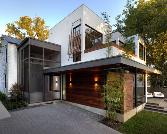 Modern spaces modern prairie style home design pictures for Modern home exterior finishes