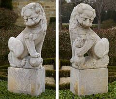 Pair of Buddhistic Lions, Fu Dogs