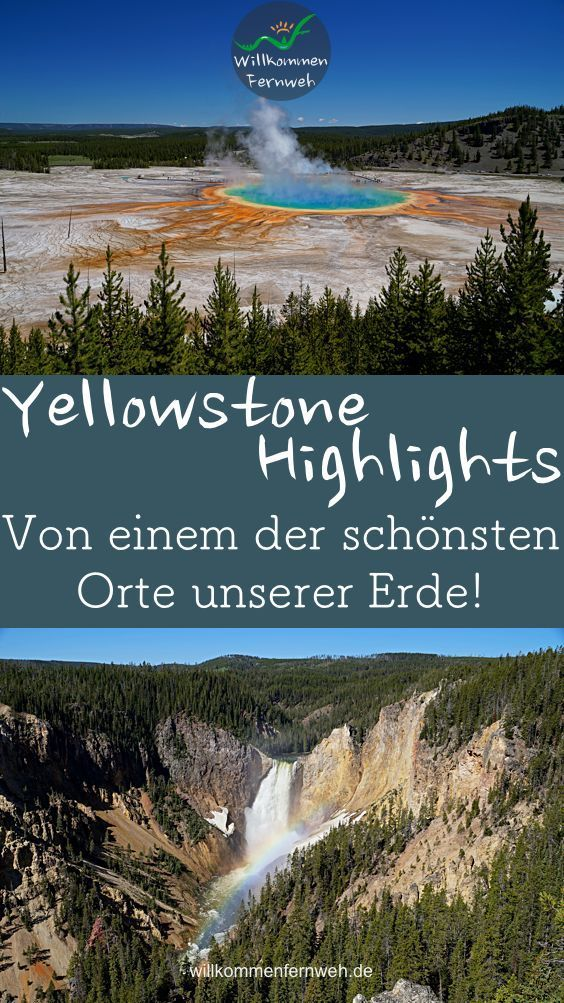 Unsere Yellowstone Highlights In 2020 Reisen Usa Reise Planen
