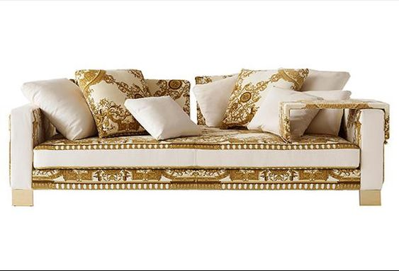 Sofa Pillows Jaipur Versace Home Collection guilded furniture Pinterest Jaipur Versace and Interiors