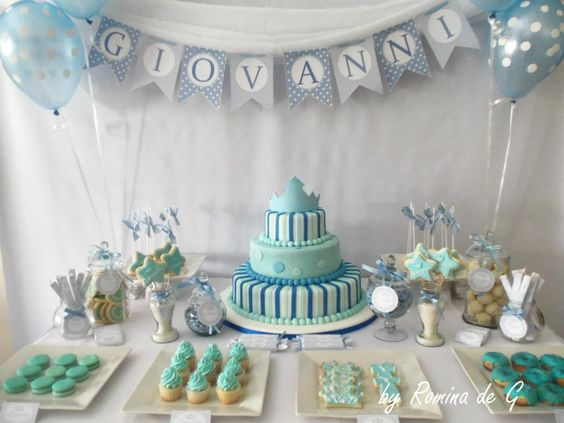 Giovanni baptism bautismo de giovanni dessert table ii for Mesas decoradas para bautizo
