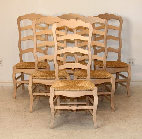unfinished ladder back chairs glider chair parts replacement kitchen french country design house