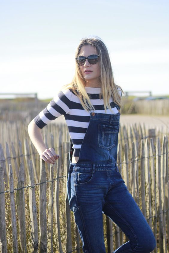 The Tall Blonde - Fashion Blog Dungarees