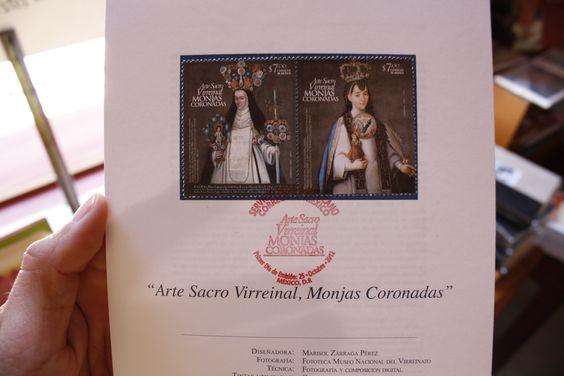 Arte Sacro Virreinal, Monjas Coronadas. Primer día de emisión, hojilla disponible en Tienda MUFI