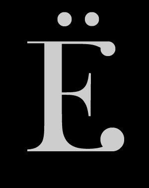 Letra latina mayúscula [Ë] con diéresis de la tipografía Wachinanga. #Typography #Freefont #deFharo #Fonts #Serif #Mayusculas #Uppercase #Letters