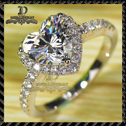 14k gold 7 tiny diamond simulation exquisite small fresh ladies engagement ring