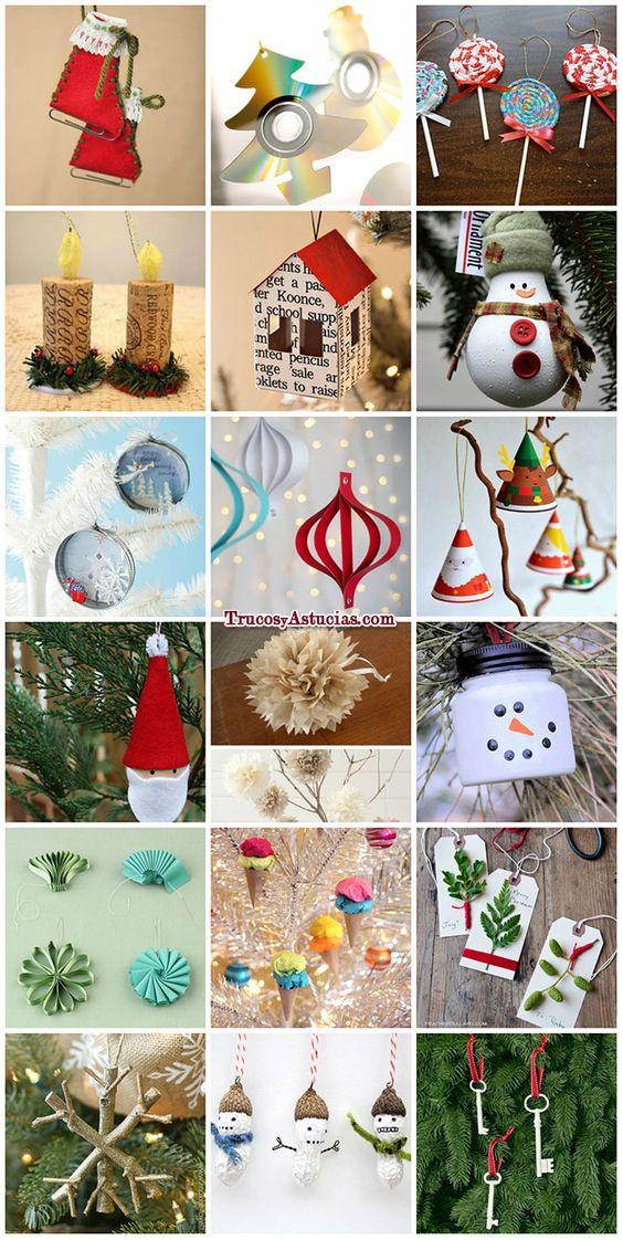 3 ideas para decorar tu rbol de navidad manualidades muy for Adornos de navidad para hacer en casa