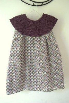 tuto robe tricot tissu tricot pinterest tricot et crochet. Black Bedroom Furniture Sets. Home Design Ideas