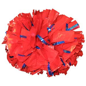 Custom Extra-Wide Streamer Plastic Glitter Show Poms by Cheerleading Company