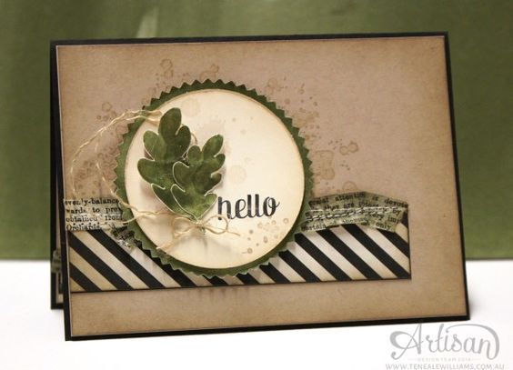 Teneale Williams   Artisan Blog Hop    Masculine cards are tricky to create but if you keep a little TLC (Texture, Layers, Colour)