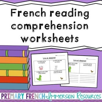 Printables French Reading Comprehension Worksheets french reading comprehension read draw la de and worksheets for print pages have students draw