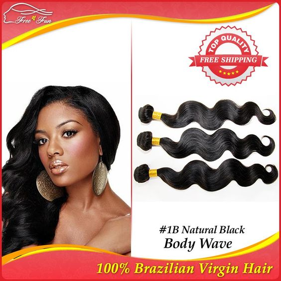 Unprocessed 6A Brazilian Virgin Hair Body Wave Human Hair Weave Queen Products Brazilian Body Wave Hair Extensions 3pcs/lot 100g $87.75 - 194.75