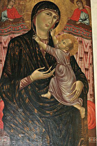 Dipinto tardoduecentesco con la Madonna con il Bambino attribuito al Maestro di San Remigio, o secondo altre ipotesi a Gaddo Gaddi #TuscanyAgriturismoGiratola