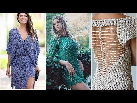 فساتين نسائية كروشيه 2018 فساتين بنات كروشية فساتين كروشيه صيفي للبنات 2018 Youtube Dresses With Sleeves Fashion Long Sleeve Dress