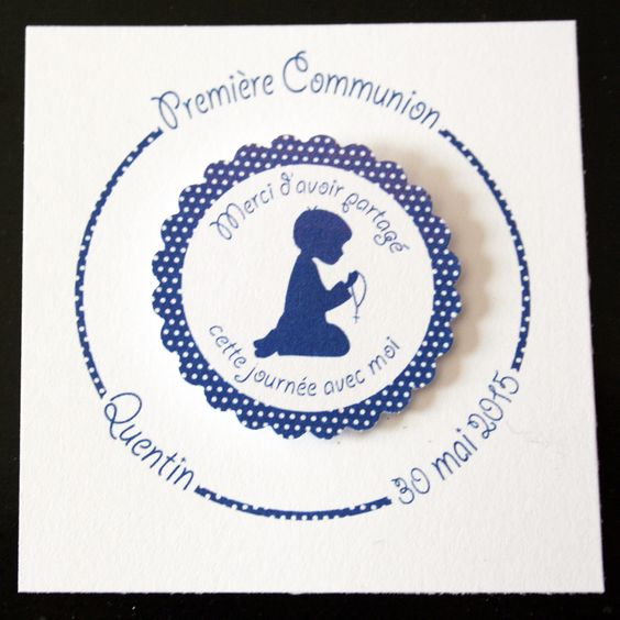 Carte j 39 ai une maman trop styl e fuchsia communion for Idee deco 1ere communion