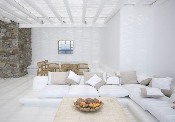 Mykonos Luxury Villas in Glyfadi Bay - Mykonos, Greece. These 2 exceptional and brand new villas are totally independent and offer their guests total privacy.