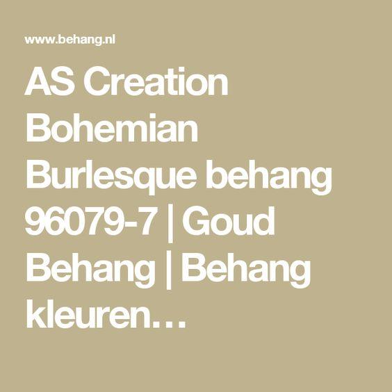 AS Creation Bohemian Burlesque behang 96079-7 | Goud Behang | Behang kleuren…