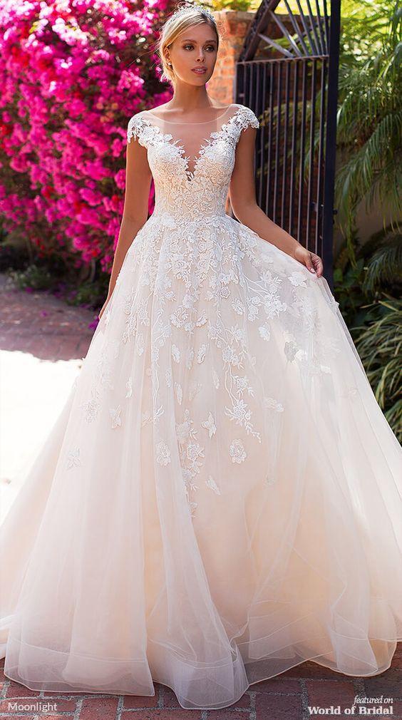 Moonlight Bridal Spring 2019 Wedding Dresses - World of Bridal