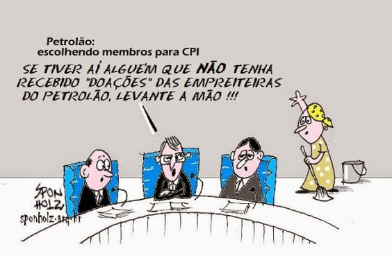 Blog do Poyastro: CHARGE DO SPON - A CPI e seus deputados .....